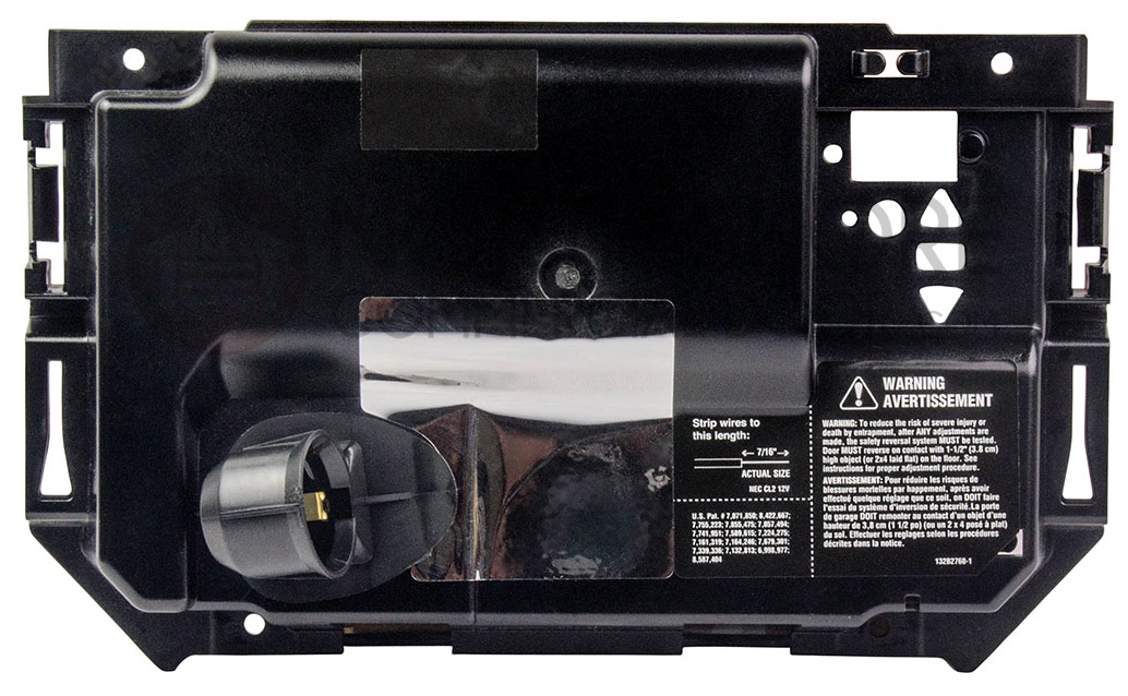Liftmaster 041d8198 End Panel With Labels And Light Socket