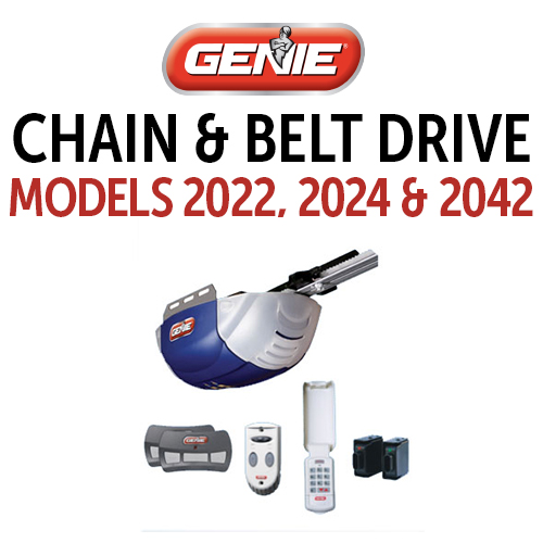 GENIE 2022, 2024 & 2042 Belt & Chain Drive Models