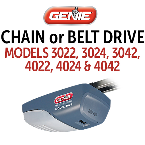 GENIE 3022, 3024, 3042, 4022, 4024 & 4042 Belt and Chain Drive Models