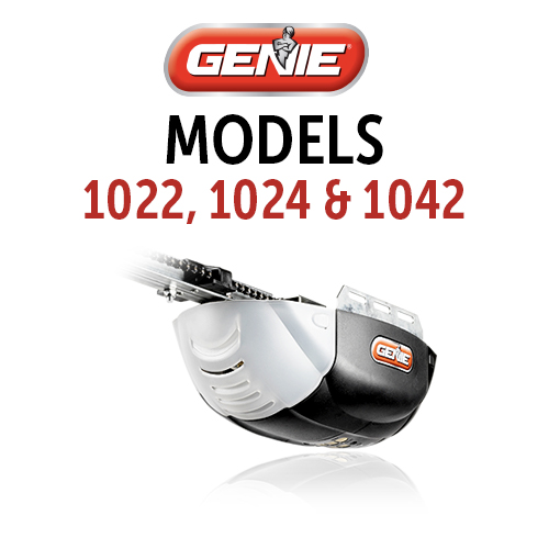 GENIE 1022, 1024 & 1024 Belt & Chain Drive Models