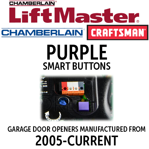 LiftMaster 315MHz-Purple Smart Button Remotes