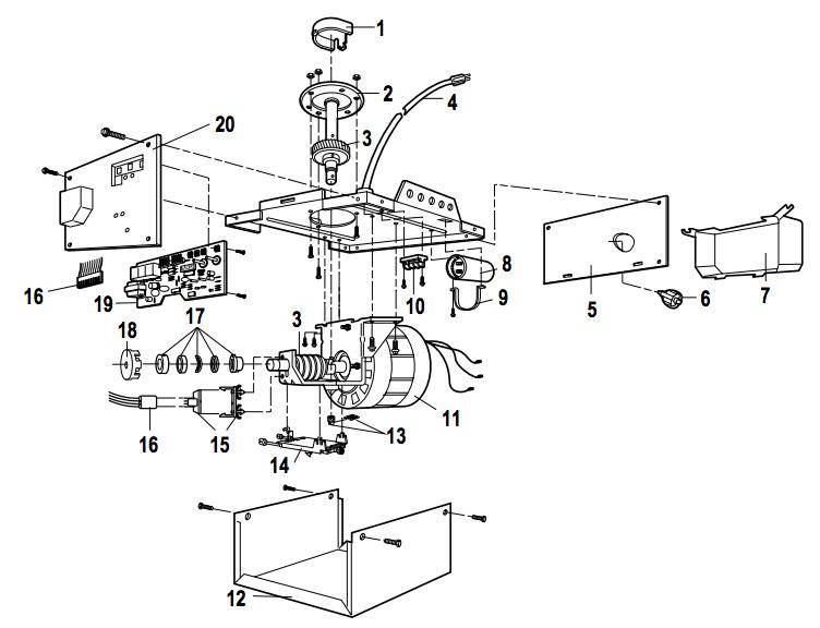liftmaster 1345 1355 garage door opener parts rh garagedoorsupplyco com CCD Camera Wiring Diagram LiftMaster Professional Gate Wiring-Diagram