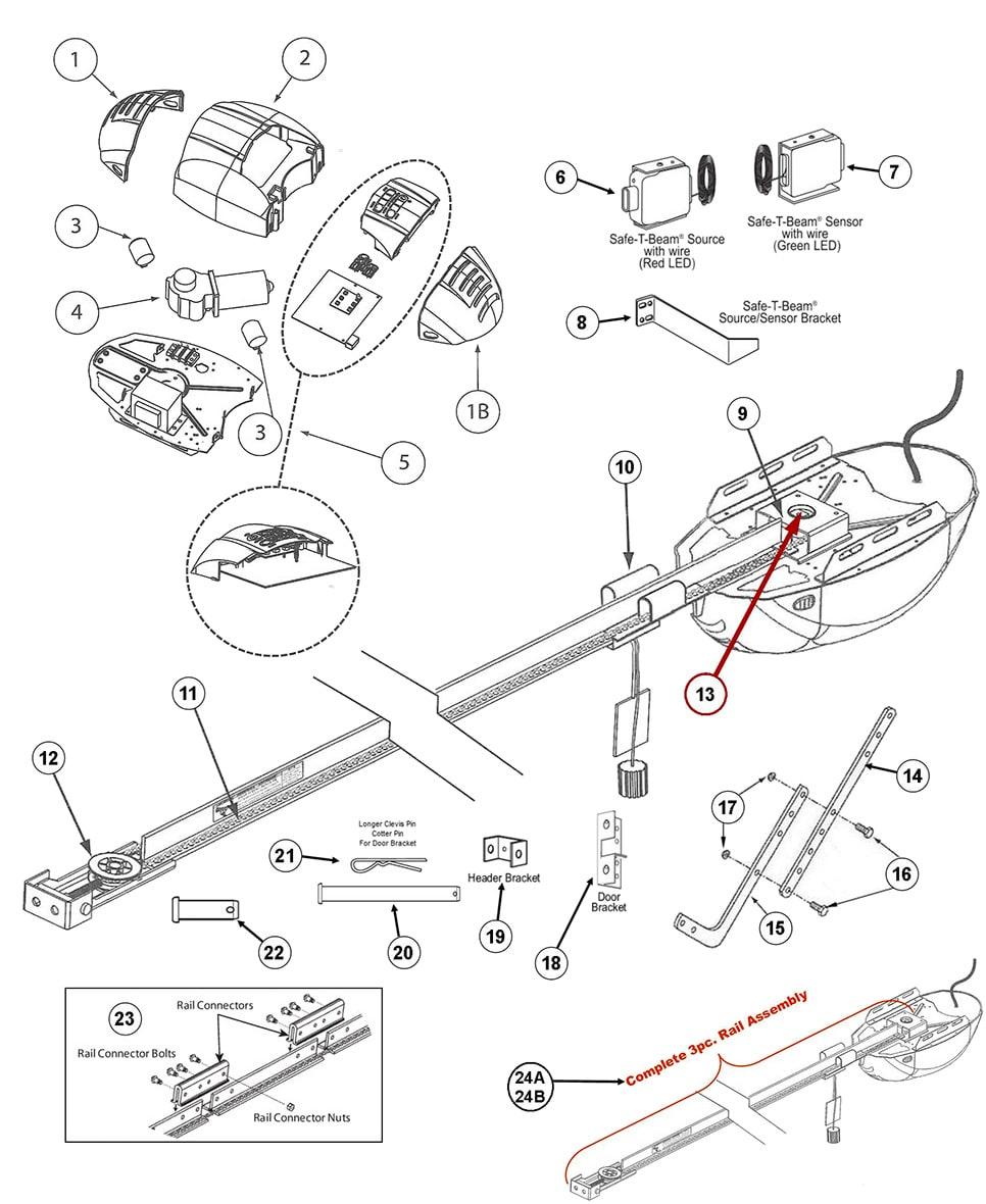 genie 2024  2022  2042 garage door opener repair parts