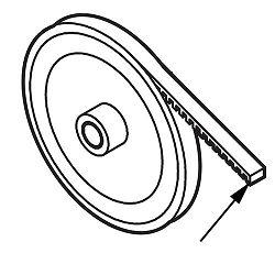 16-5L300 LiftMaster Cogged Belt for Commercial Operators
