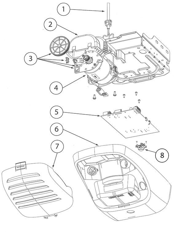 genie garage door opener partsGenie 3062 3064 4062 4064 Garage Door Opener Parts