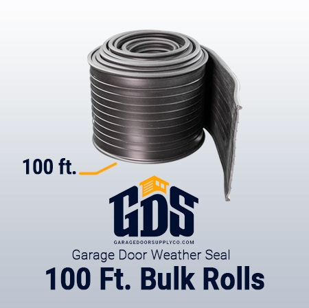 100' Bulk Garage Door Weather Seal