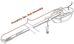 38284R.S Relia-G/QuietLift 3pc. T-Rail Belt Drive Rail Assembly