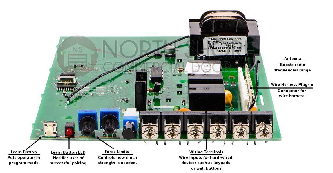genie 20380s control board rh garagedoorsupplyco com Genie Intellicode Chain Glide Troubleshooting Genie Garage Door Opener Manual