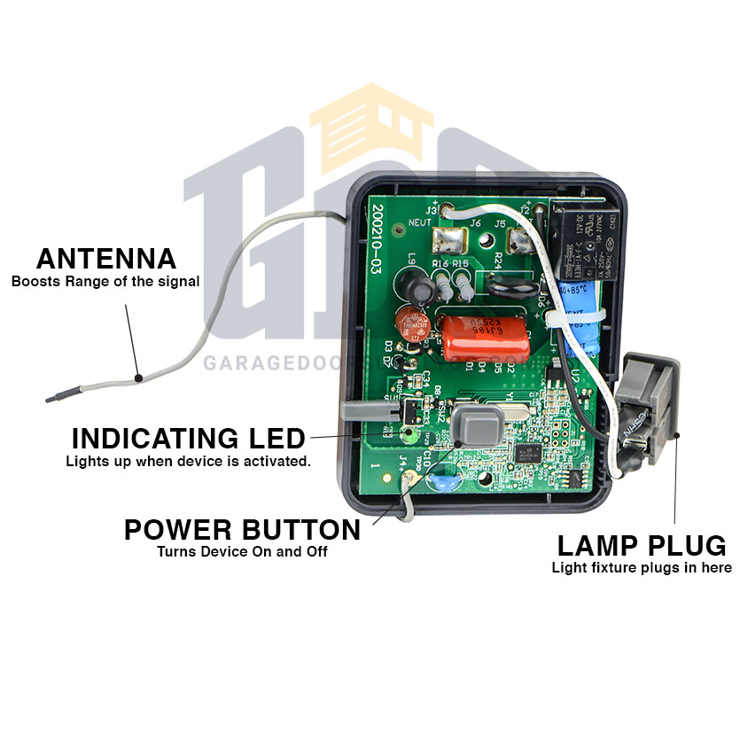 Liftmaster 825lm Myq Remote Control Lights Control