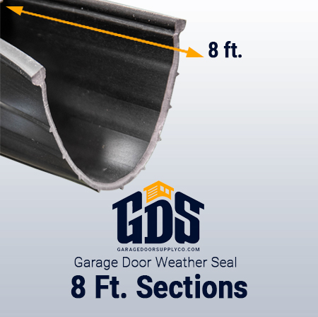 8' Garage Door Weather Seal