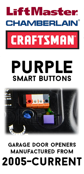 315MHz-Purple Smart Button Remotes