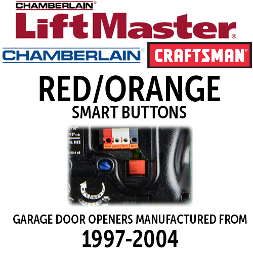 Chamberlain Security+ Red or Orange Smart Button Remotes