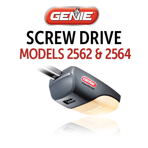 GENIE 2562 & 2564 AC Screw Drive Models