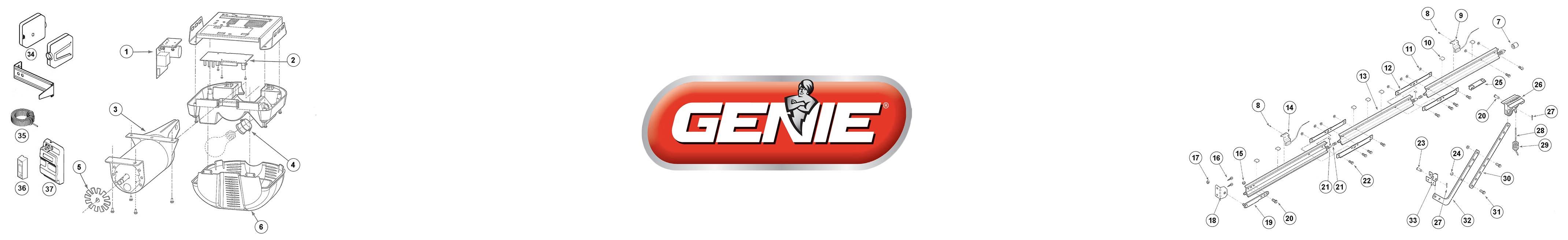Genie Excelerator Garage Door Opener Parts
