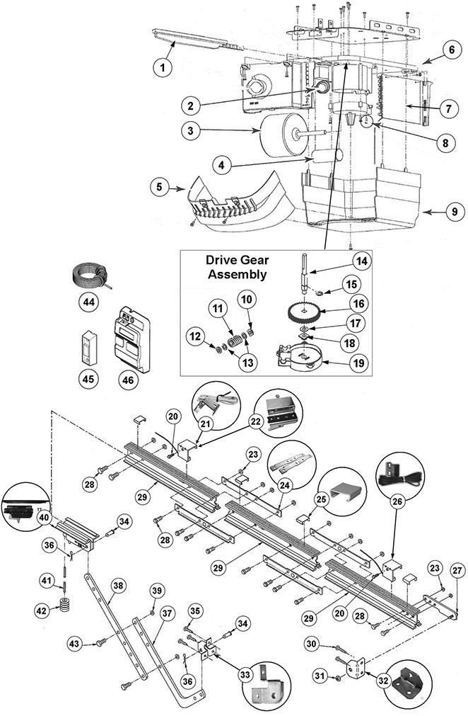Genie Chain Glide Parts Schematic For Garage Door: Garage Door Schematic Diagram At Teydeco.co