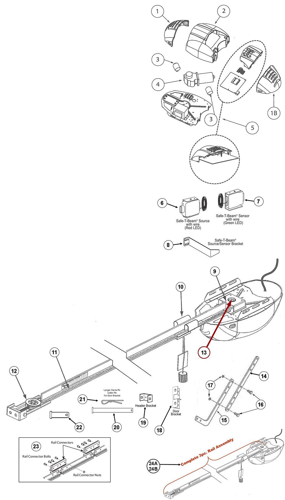 genie garage door opener parts diagram  u2013 ppi blog