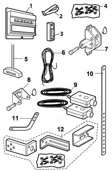 LiftMaster 1265 Installation Parts breakdown schematic