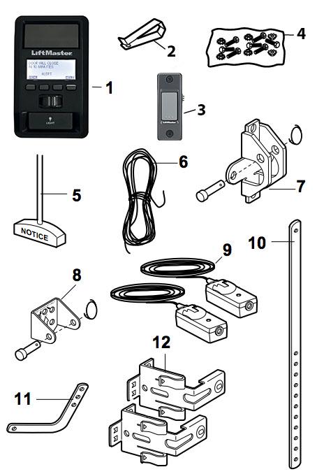 LiftMaster 8550W Garage Door Opener Parts on lift parts diagram, lift motor diagram, lift switch diagram, lift pump diagram, lift accessories,