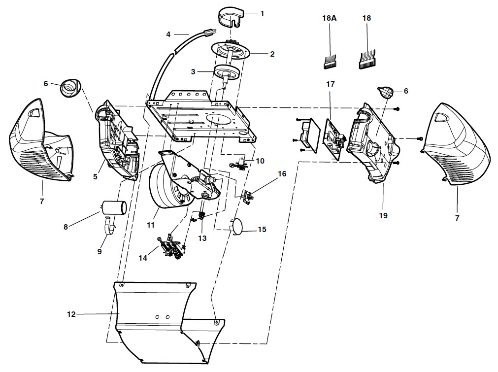 liftmaster 3265, 3265m garage door opener parts  liftmaster motor assembly parts schematic