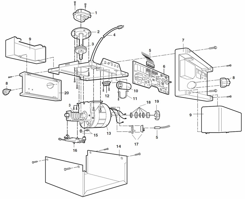 Lift Master Garage Door Opener Parts Diagram Enthusiast Wiring