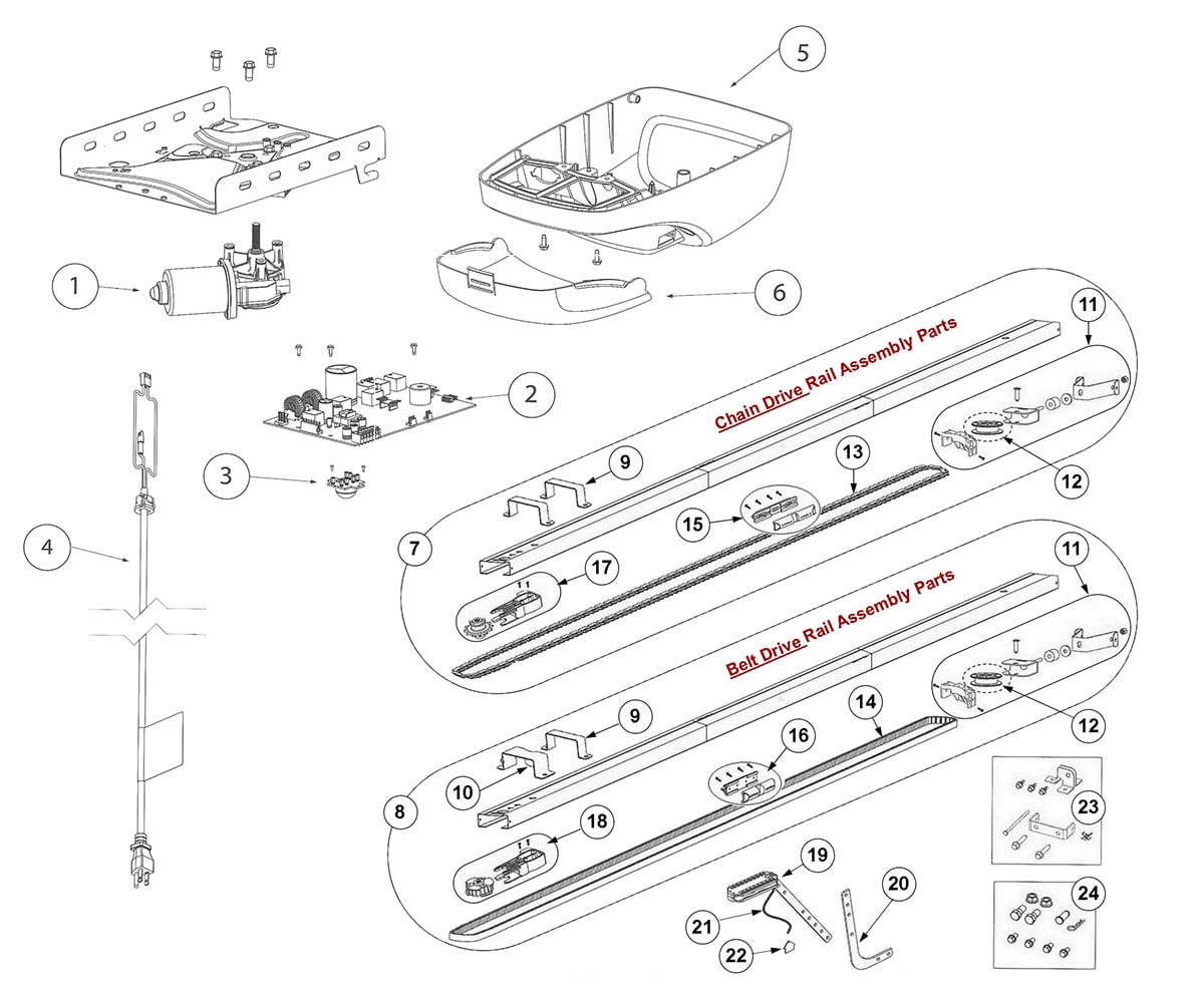 Parts For Genie Garage Door Opener