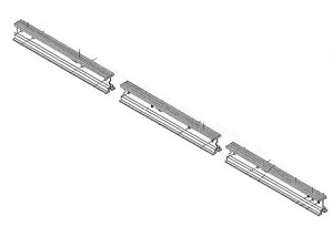 Genie 20468R Chain Glide 3 piece Rail Set for 7' high door